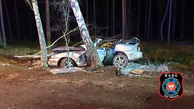 W tragicznym wypadku niedaleko Brzozy zginęła jedna osoba.