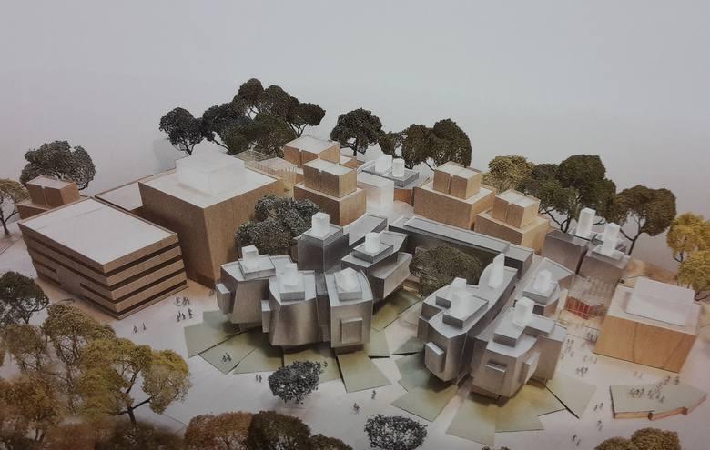 Projekt kampusu Akademii Muzycznej na Grzegórzkach autorstwa pracowni Frank Gehry