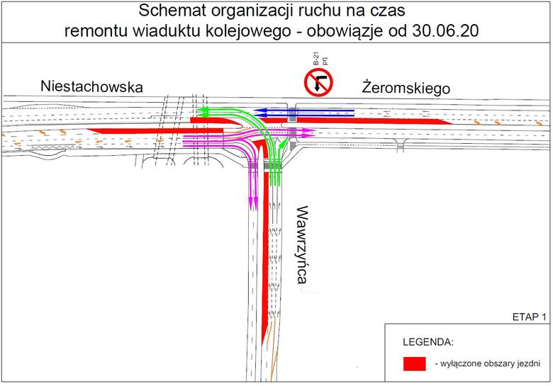 Poznań: Rusza remont wiaduktu kolejowego nad ul. Niestachowską. Będą utrudnienia w ruchu