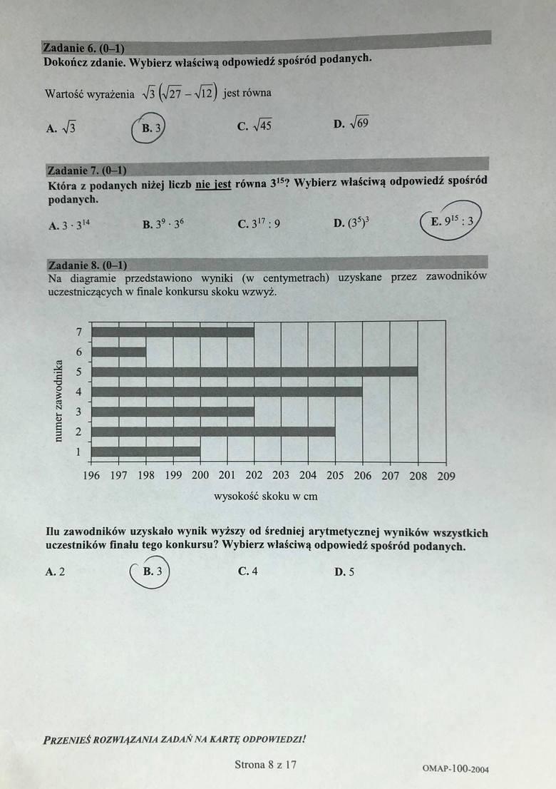 Egzamin ósmoklasisty z matematyki: mamy odpowiedzi!