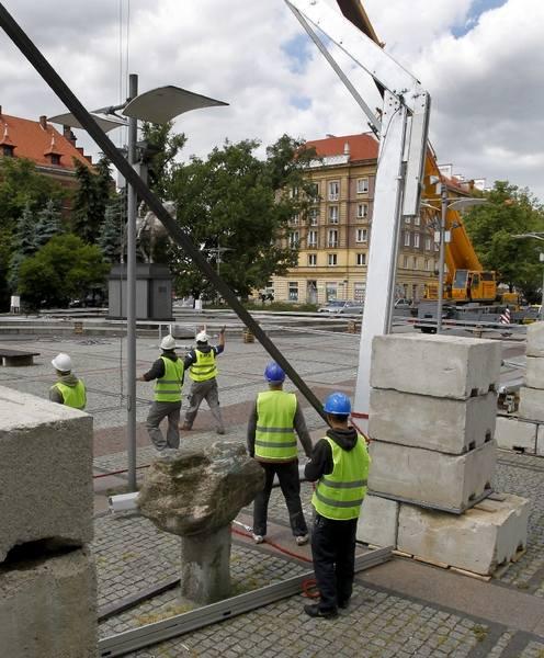 Budowa strefy kibica w Szczecinie