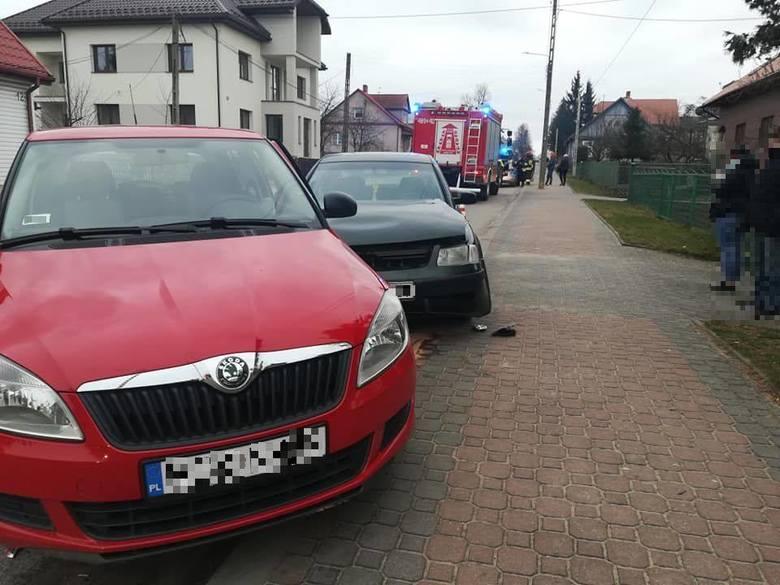 Suchowola. Zderzenie na ul. Augustowskiej. Volkswagen wjechał w skodę (zdjęcia)