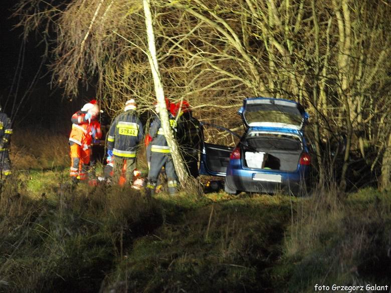 Śmiertelny wypadek pod Białogardem. Kierowca pomimo reanimacji nie przeżył  [zdjęcia]