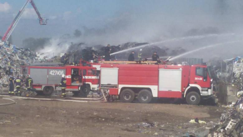 Pożar hałdy śmieci w firmie Wexpool we wrześniu 2015 r.