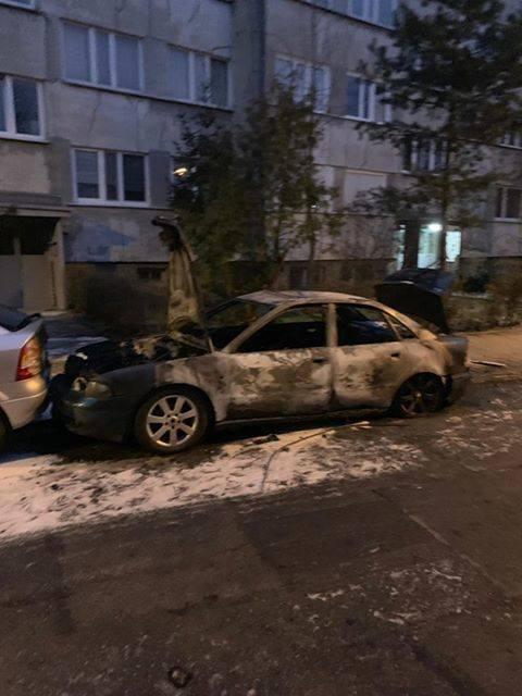 Nocny pożar samochodu we Wrocławiu. Czy to było podpalenie? (ZDJĘCIA)