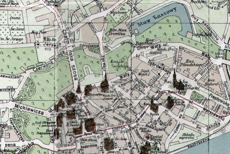 Nazwa toruńskiej Wall Street nie jest przypadkowa. Ulica Wałowa, po wojnie przemianowana na Wały gen. Sikorskiego, biegła na przedpolu średniowiecznych