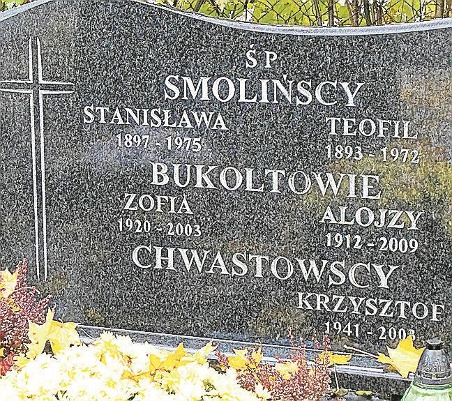 Alojzy Bukolt z ukochaną Zofią spoczywają przy ul. Kossaka.