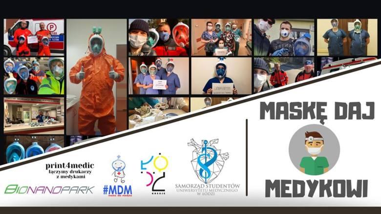 Studenci z Łodzi przekonują do akcji #maska dla medyka. Wystarczy oddać swoją nieużywaną maskę do snorkelingu by pomóc
