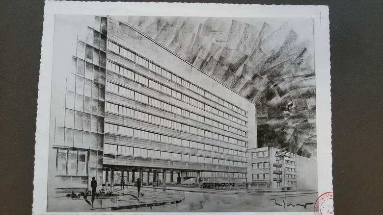 Rysunek Karola Schayera. Widok od strony wschodniej