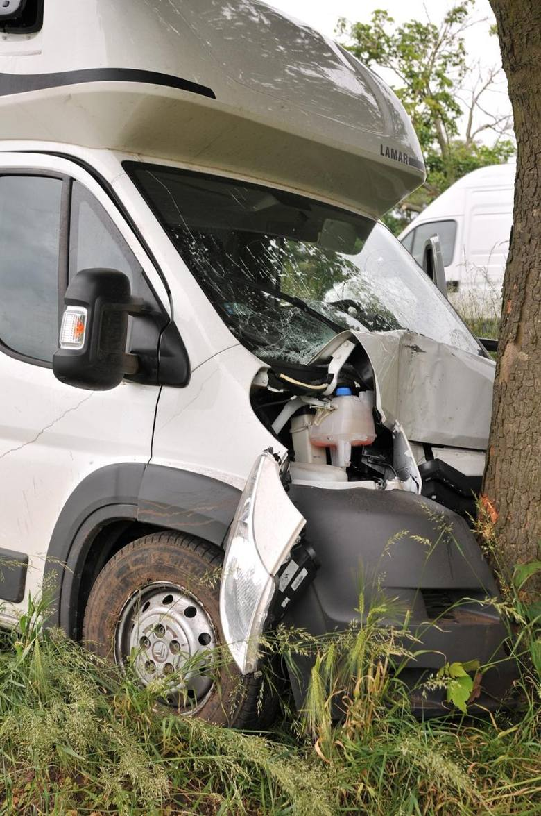 Wypadek pod Śremem: Citroen uderzył w drzewo [ZDJĘCIA]