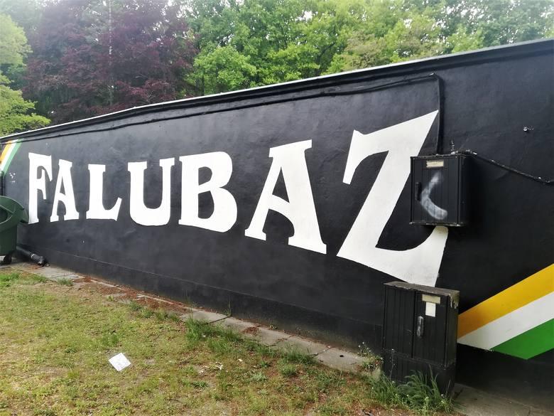 Pięknie namalowane graffiti i obrazy, ale również niedbale nakreślone bazgroły – na symbole Falubazu można natknąć się w każdym zakątku Zielonej Góry.