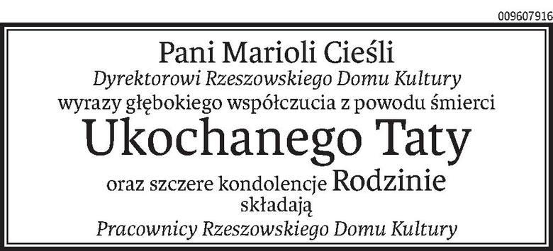 Nekrologi i Kondolencje z dnia 04 marca 2020 roku