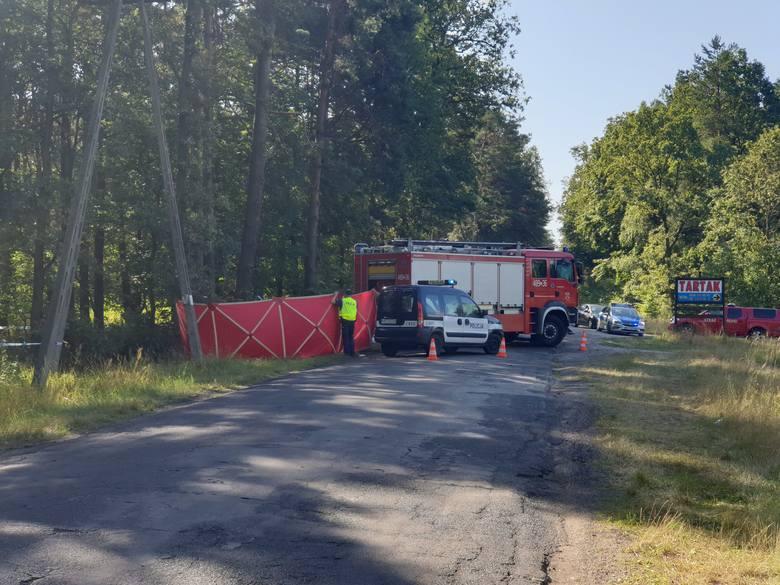 Tragiczny wypadek w miejscowości Miradz pod Strzelnem w powiecie mogileńskim. Cztery młode osoby nie żyją. Samochód uderzył w drzewo.