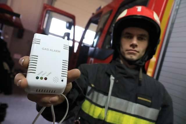 czujnik gazu, czadu - straż pożarna LegionówTomasz Uździński