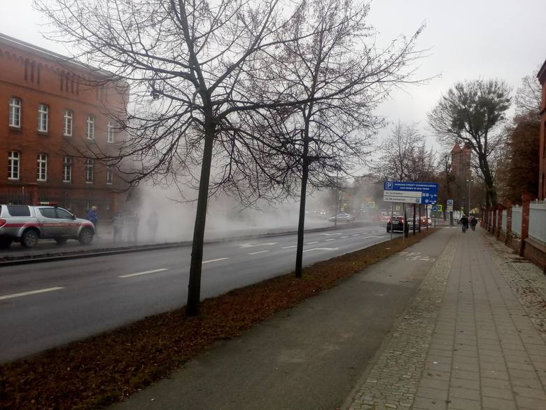 Pilne! Awaria ciepłociągu przy ulicy Dobrzyńskiej!