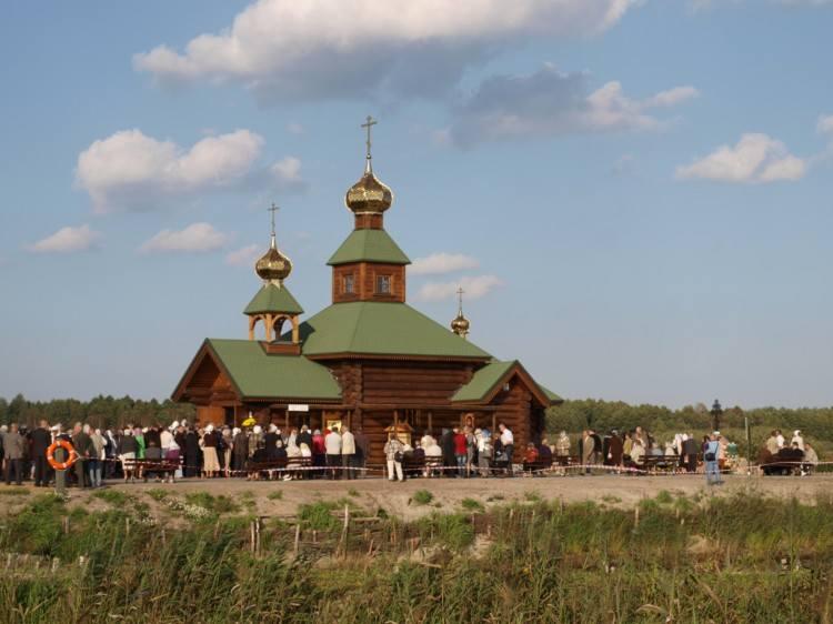 Cerkiew na Kudaku, ufundowana przez warszawskiego biznesmena, zbudowana przez góralskich cieśli z Chochołowa