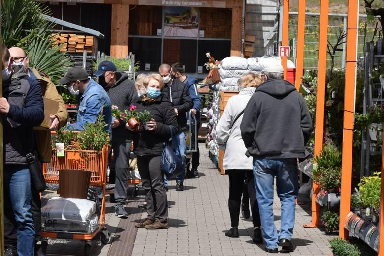 8 maja, w pierwszą sobotę po powrocie marketów budowlanych do handlu, spragnieni zakupów kielczanie ruszyli do sklepów z materiałami do remontowania