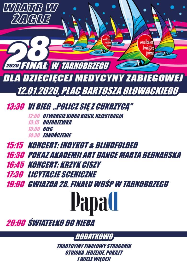 28. finał WOŚP w Tarnobrzegu z zespołem Papa D. Zobacz koncertowy rozkład jazdy