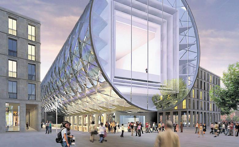"""Budynek Specjalnej Strefy Sztuki miał być szklanym cylindrem. Projektanci nazywali go """"tunelem do sztuki"""", a łodzianie """"wielką"""