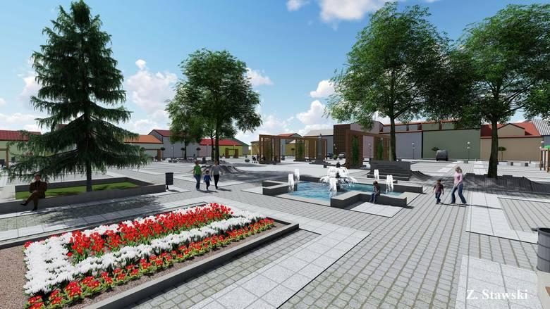 Plac Tadeusza Kościuszki w Małogoszczu ma szansę znów być zielony. Do konkursu na zagospodarowanie zieleni na małogoskim rynku, który ogłoszono pod koniec