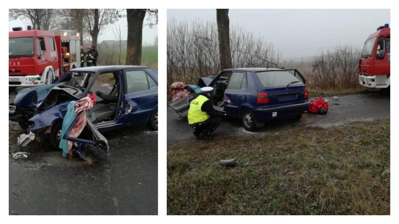 W miejscowości Krusze (powiat świecki) na drodze powiatowej doszło do tragicznego wypadku drogowego. W wyniku zdarzenia zginął 18-letni mężczyzna. Śledztwo