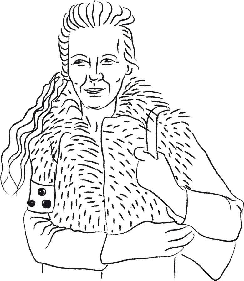 Barbara Klak, niewidoma z opaską w czarne kropki
