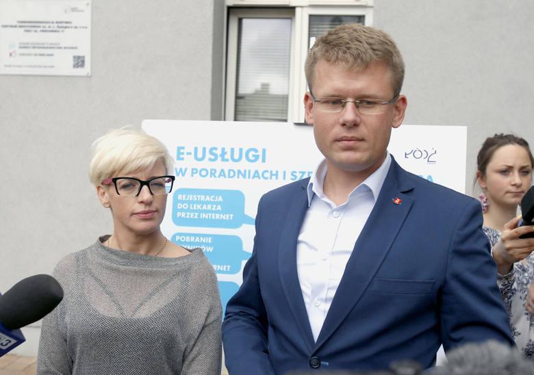 Ewa Paczkowska, prezes Centrum Medycznego im. L. Rydygiera i Adam Wieczorek, wiceprezydent Łodzi odpowiedzialny za służbę zdrowia.