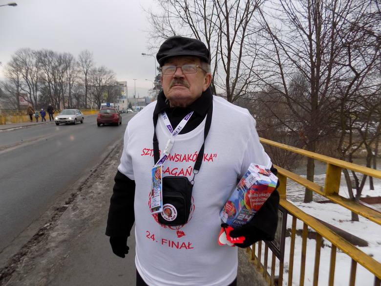 72-letni Lechosław Fechner nie opuszcza żadnego finału WOŚP.