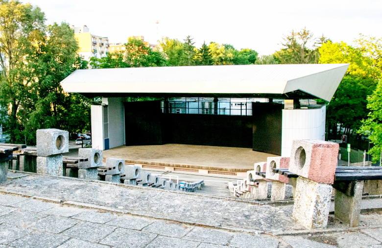 Teren amfiteatru w Zielonej Górze