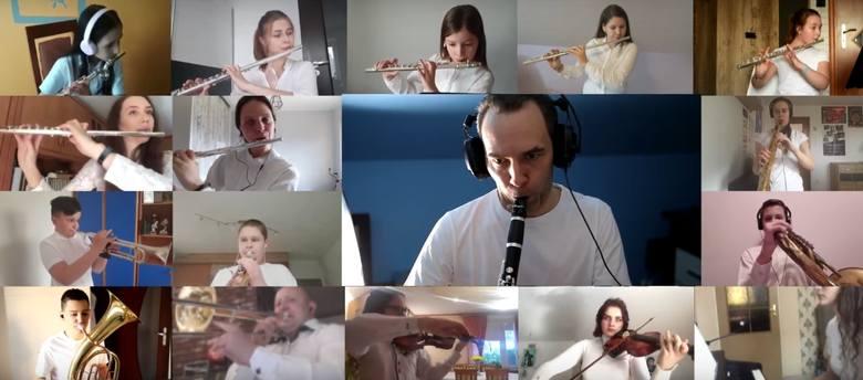 Ostrów Maz. Orkiestra Młodych Miejskiego Domu Kultury w Ostrowi Mazowieckiej zagrała dla służby zdrowia