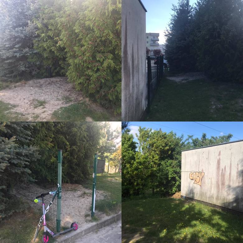 Przy ul. Bora - Komorowskiego na ścianie garażu powstał już kolorowy mural. Teraz czas na obsadzenie terenów, które jeszcze niedawno wyglądały mało ciekawie