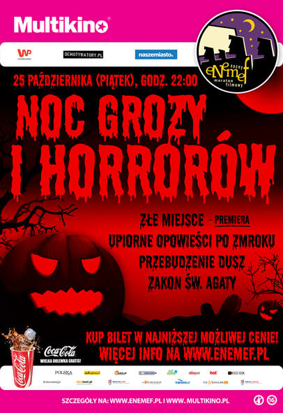 ENEMEF: Noc grozy i horrorów na Halloween! Zapraszamy do kina. Mamy bilety na straszny maraton