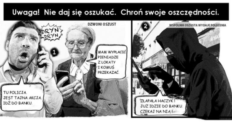 Wrocławska policja przy pomocy komiksu ostrzega seniorów przed oszustami, próbującymi wyłudzić od nich pieniądze. Nie ma dnia żeby nie notowano tego