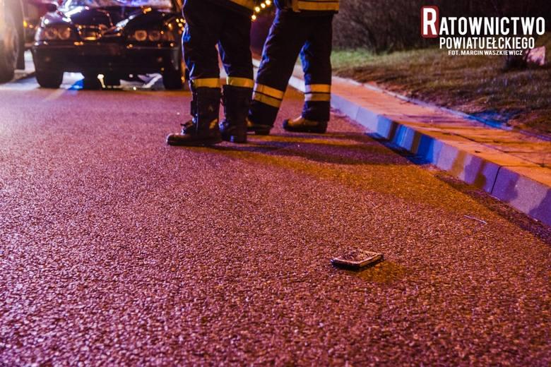 Ełk: Samochód osobowy potrącił pieszego. Nie żyje 33-letni mężczyzna[ZDJĘCIA]