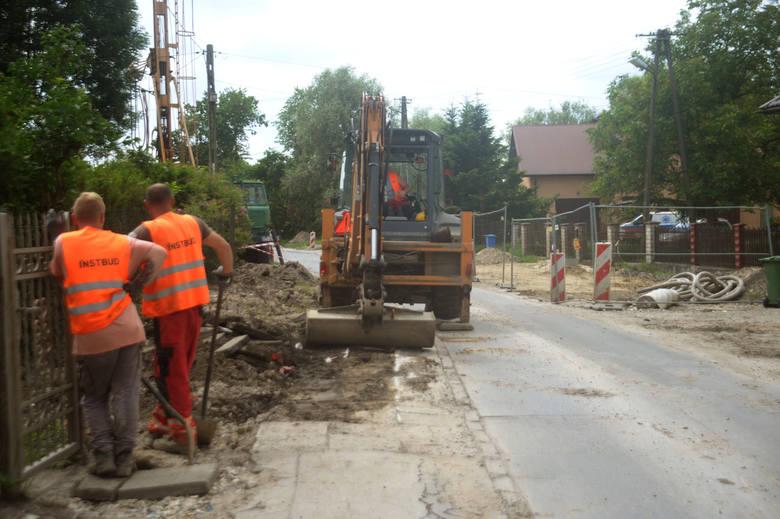 Trwa przebudowa ulicy Klasztornej
