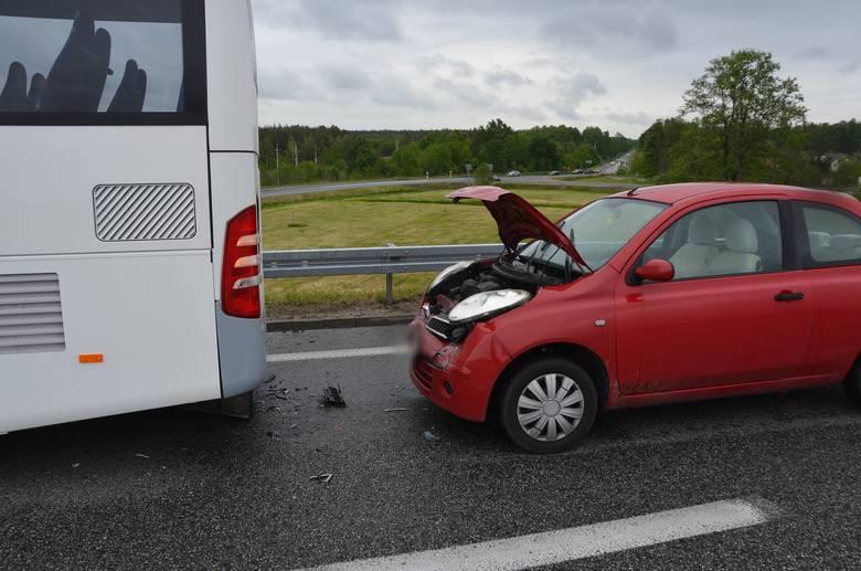Wypadek na S8 w Lucynowie w pow. wyszkowskim. 3.06.2020