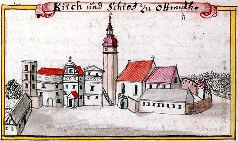 Tak wyglądał zamek według rysunku Friedricha Wernera.