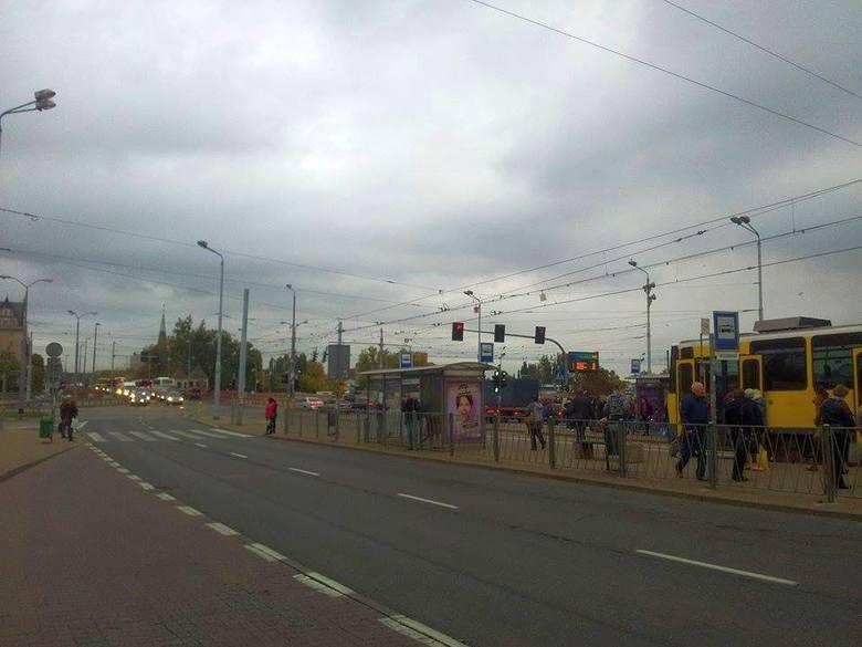 Kolizja na ul. Gdańskiej. Tworzą się korki
