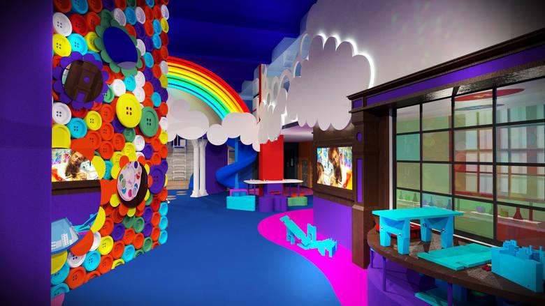 Wizualizacja Bajki Pana Kleksa w Katowicach w Fabryce Porcelany. To będzie pierwsza Wytwórnia Kultury, Nauki i Zabawy w Polsce