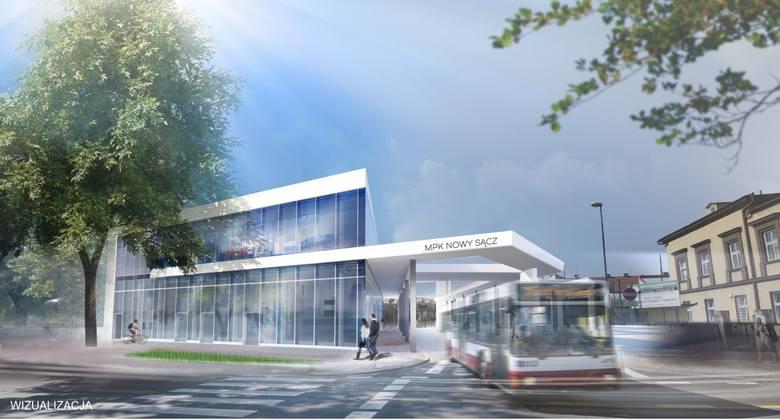 Nowy Sącz. MPK dostanie dotację na dworzec i autobusy [WIZUALIZACJE]
