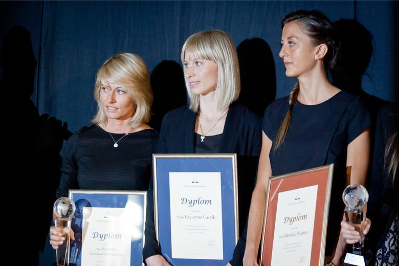2015 r., Duszniki-Zdrój. Od lewej: Weronika Nowakowska, Krystyna Guzik, Monika Hojnisz
