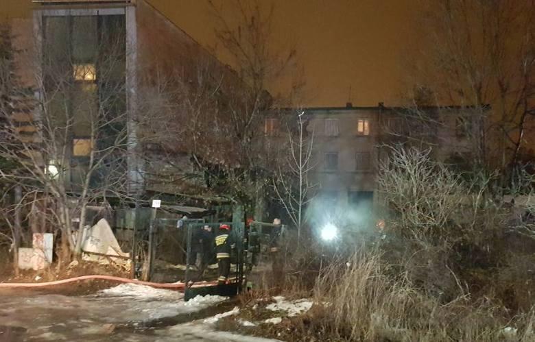 Pożar wybuchł w opuszczonej kamienicy przy al. Piłsudskiego