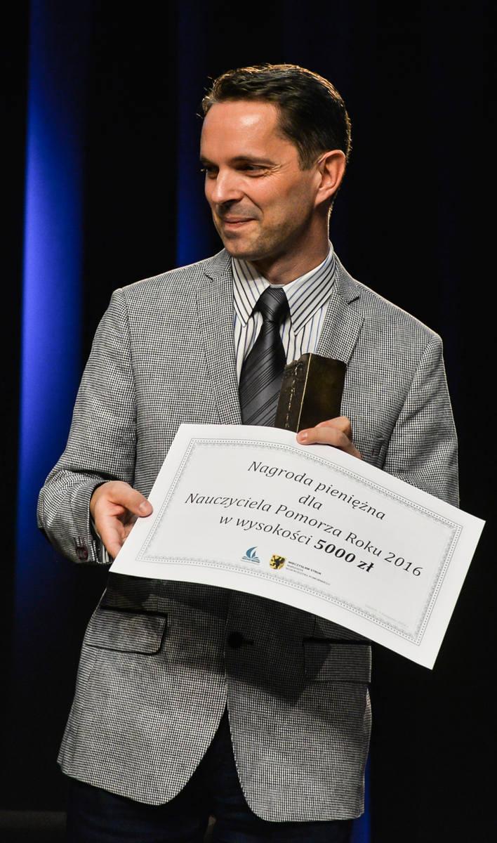 Piotr Sikorski, laureat plebiscytu Nauczyciel Pomorza 2016