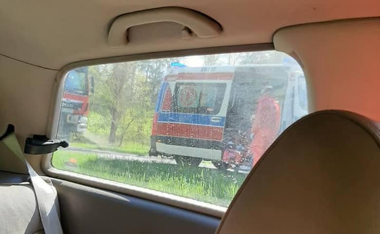 Wypadek śmiertelny motocyklistki w m. Żednia