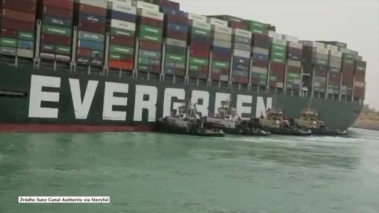Blokada Kanału Sueskiego: akcja usunięcia kontenerowca Ever Given z mielizny