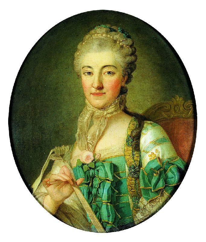 Portret Izabeli z Poniatowskich Branickiej. Per Krafft Starszy, 1767. Własność: Muzeum Narodowe w Krakowie