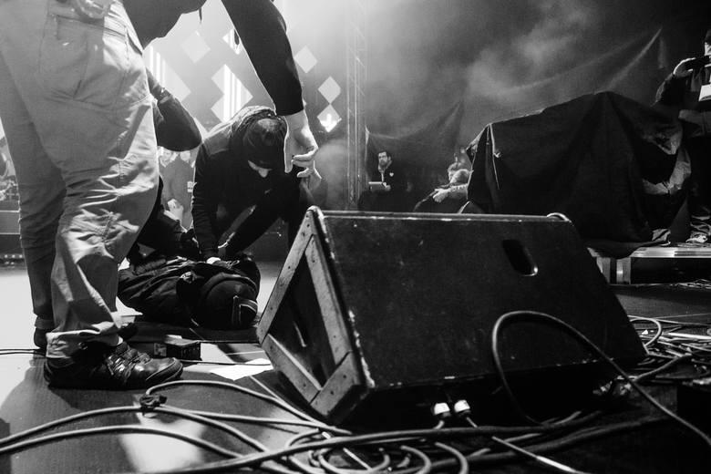 Fotoreportaż - I miejsce w kategorii WYDARZENIA13 stycznia 2019 roku podczas finałowego koncertu Wielkiej Orkiestry Świątecznej Pomocy w Gdańsku przemawiający