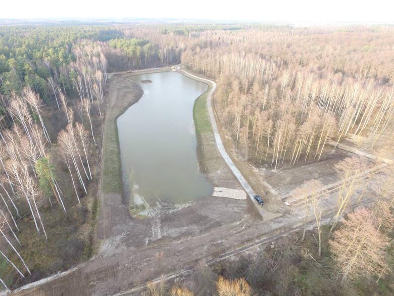 Nowy zbiornik w leśnictwie Nowa Wieś