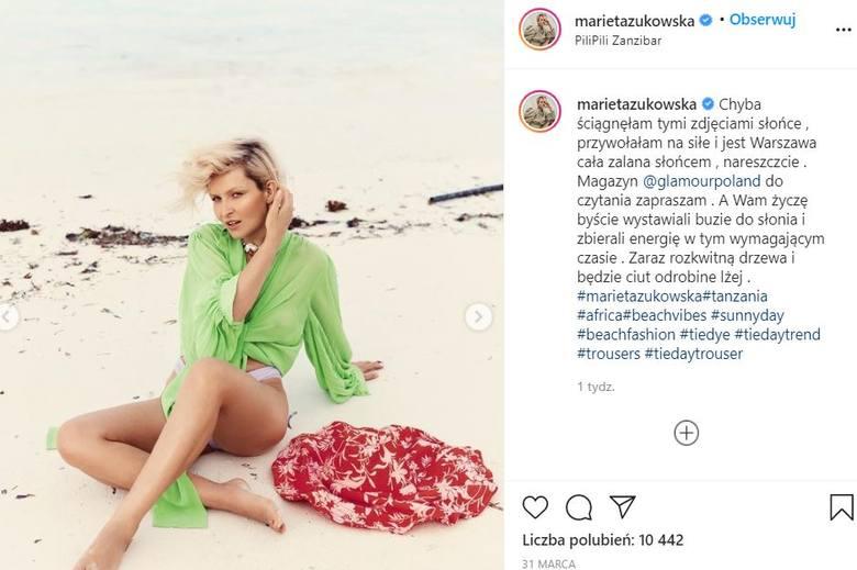 Ależ kadry! Zaszalała i to jak! Marieta Żukowska zasłoniła piersi marynarką, a potem pokazała się nago ZDJĘCIA 10.05.2021