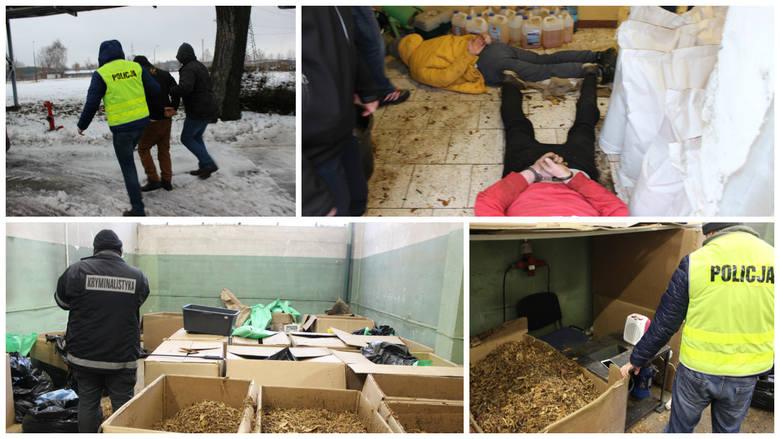 Trzech mężczyzn trzymało w magazynie prawie 1,5 tony krajanki tytoniowej